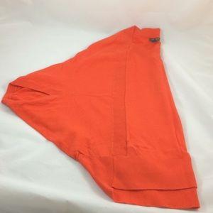 Ann Taylor orange poncho sweater